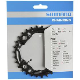 Shimano FC-M4000/M4050 Platos 9 Velocidades, black